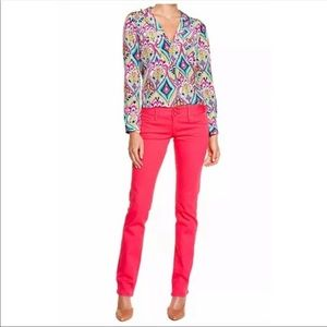 Lilly Pulitzer Worth Straight Leg Jeans Pink Punch